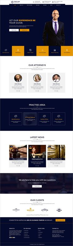 Prolaw Legal Law Firm is a clean and modern #PSD #template for #attorneys, justice, law, lawyer or law firm websites download now➩ https://themeforest.net/item/prolaw-legal-law-firm-attorney-psd-templates/19235458?ref=Datasata