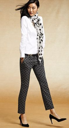 Double up on the polka dots today and bring an umbrella. http://www.thestyleup.com/style/68hb6