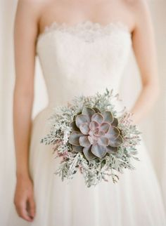 35 Succulent Wedding Ideas for Your Big Day winter wedding ideas succulent bouquet Mod Wedding, Trendy Wedding, Floral Wedding, Wedding Flowers, Wedding Dresses, Green Wedding, Bouquet Wedding, Wedding Blog, Succulant Wedding