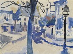 Andre Derain - La Place du Village, 1904, watercolour on paper