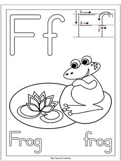 Frog Coloring Page For F Week