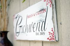 Last name family sign in white with rustic finish