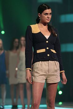 Navy Hunting Jacket   #FashionStar / Fashion Star