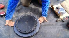 Koi Pond Construction | Pond Liner Bottom Drain Attachment - Part 28