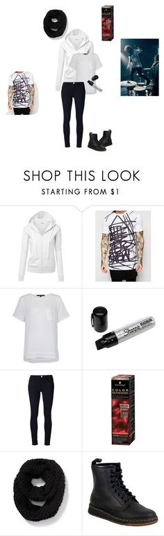 """""""josh dun - fairly local"""" by twenty-one-pilots-outfits ❤ liked on Polyvore featuring ASOS, French Connection, Frame, Schwarzkopf, Old Navy and Dr. Martens"""
