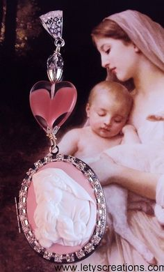 """Mother of Our Savior"" Catholic Virgin Mary Locket Shrine Religious Pendant www.letyscreations.com"
