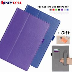 Limited Edition Magnet Smart Flip Cover Case For Kyocera Qua tab PZ 10.1 LGT32SWA PU leather Slim-book Stand Cover