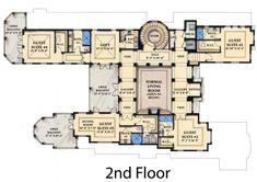 Second Floor Plan of Coastal   Contemporary   Florida   Mediterranean   House Plan 71504