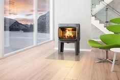 Jøtul F 305 LL med stort brennkammer i moderne design - Ildstedet Foyers, Modern Wood Burning Stoves, Wood Stoves, Snug Room, Stove Fireplace, Log Burner, Piece A Vivre, White Wood, Home Projects