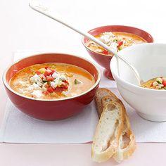 Reissuppe mit Zucchini und Feta Rezept   Küchengötter