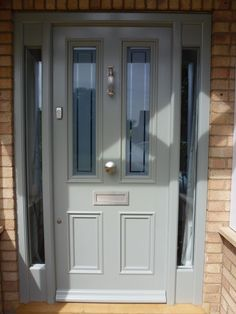 Law and Lewis Joinery of Cambridge Timber Front Door, Composite Front Door, House Front Door, Best Front Doors, Grey Front Doors, Exterior Front Doors, Porch Designs Uk, Front Door Lighting, Traditional Front Doors