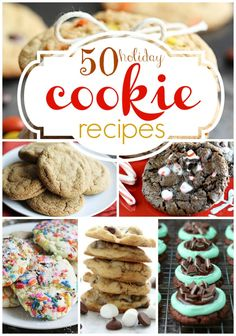 50 Holiday Cookie Recipes! OMG I could read these recipes and look at these pics all day!!!!  I wish I could make and eat them all!!