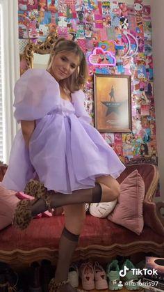 Lila Outfits, Mode Outfits, Pretty Outfits, Pretty Dresses, Fashion Sewing, Diy Fashion, Fashion Dresses, Textiles Y Moda, Mode Kpop