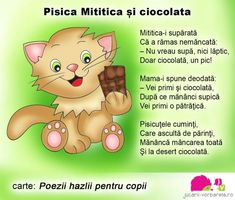 pisica-mititica-text-corectat Projects For Kids, Crafts For Kids, Emotions Activities, 4 Kids, Children, School Coloring Pages, Kids Poems, Art Drawings For Kids, Kids Reading
