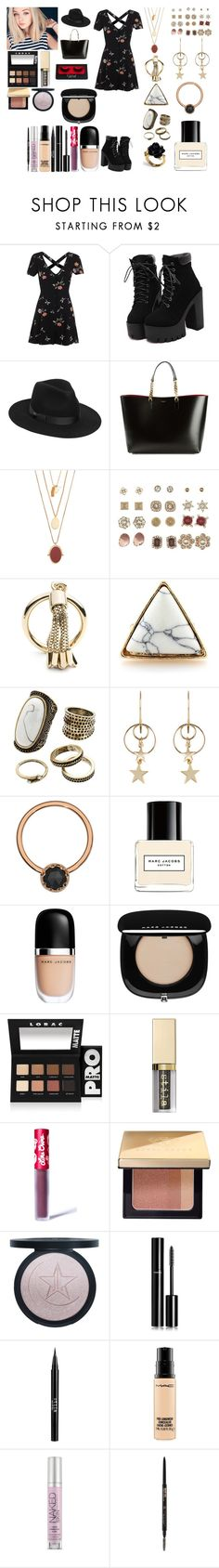 """Untitled #879"" by asiebenthaler ❤ liked on Polyvore featuring Miss Selfridge, Lack of Color, Yves Saint Laurent, Madewell, Charlotte Russe, Eddie Borgo, Gemma Simone, Zimmermann, Marc Jacobs and LORAC"