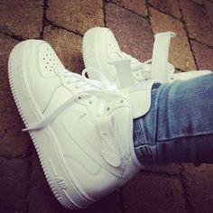 3e1d1c496ce47 Nike Air Force 1 white high  Love these soo much