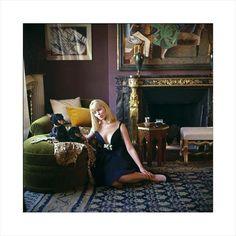 Catherine Deneuve c1960s with opulent interior