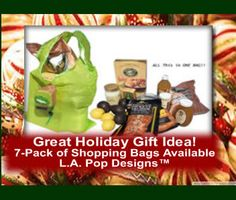 Order your L.A. Pop Designs (TM) #groceryshoppingbags now - GREAT holiday gift idea, 7-pack available! http://www.amazon.com/Pop-Design-Expandable-Eco-Friendly-Lightweight/dp/B00UHAMMDG/ref=sr_1_11?s=kitchen&ie=UTF8&qid=1441752180&sr=1-11&keywords=shopping+bags