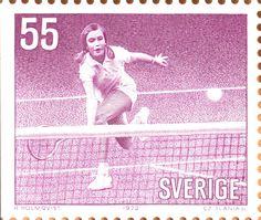 """Sweden 55ö """"Sportswomen"""" 1972. Czeslaw Slania sc."""