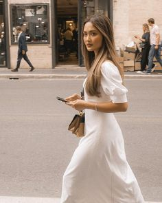 Feeling like in a movie with 's dress in Rome. Instagram Outfits, Rome, Shots, White Dress, Lifestyle, Studio, Street, Movies, Inspiration