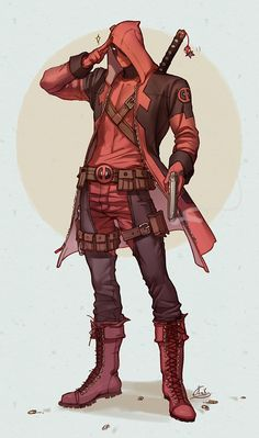 Little Red Riding Hood - Deadpool by Axis <<<< HIS WITTLE KEYCHAIN OMG ASDFGHJKL