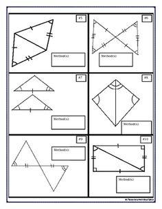 congruent triangles proving triangles congruent cut mat - Triangle Congruence Worksheet