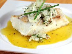 Filete de Pescado con Salsa de Cítricos con Jengibre