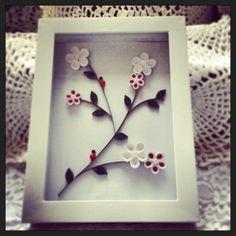 Quilled Cherry Blossom by MaidenLongIsland on Etsy, $18.00
