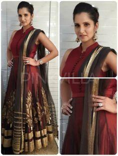 Sania Mirza in Shantanu Nikhil Shadi Dresses, Indian Dresses, Indian Attire, Indian Wear, Pakistani Outfits, Indian Outfits, Desi Clothes, Indian Clothes, Traditional Fashion