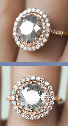 Dudee Silver Color Luxury PRingce cut rose gold engagement ring women fashion rings
