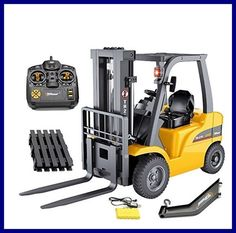 Remote Control Forklift Vehicle Toy Digger Excavator RC Construction Car Gift #TopRace