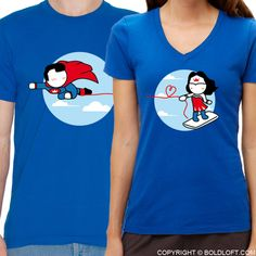Matching Couple Shirts Superman Shirt Wonder Woman Shirt Superman Gift Valentines Day Boyfriend Gift Husband His and Hers Shirts BoldLoft Superman Shirt, Wonderwoman Shirt, Superman Gifts, Couple Tees, Matching Couple Shirts, Couple Tshirts, Matching Couples, Couple Gifts, Valentines Day For Boyfriend
