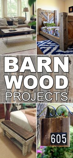 Here are some truly unique barn wood projects that will warm up any home.