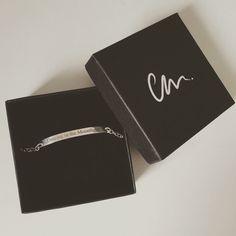 'Dancing in the moonlight' silver laser engraved bracelet