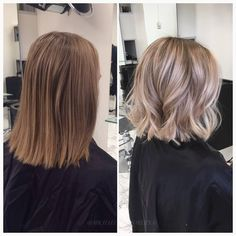 Needless to say, silky, shiny hair is beautiful and is desired by women all around the world. Pretty Hairstyles, Bob Hairstyles, Medium Hair Styles, Curly Hair Styles, Shiny Hair, Hair Highlights, Balayage Hair, Hair Lengths, Hair Inspiration