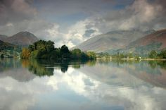Rydal Water looking towards Grasmere, The Lake District. Beautiful even on a cloudy day