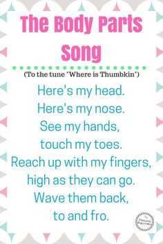 10 Fun Preschool Songs About Body Parts - Planning Playtime