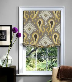 roman shade---I have this fabric ..Where to use??