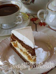 Bosnian Recipes, Croatian Recipes, Wine Recipes, Baking Recipes, Dessert Recipes, Torte Recepti, Torte Cake, Just Cakes, Chocolate Desserts