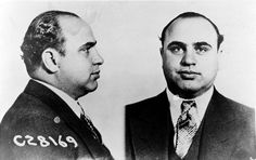 Al Capone Mug Shot. Gangsters and bootleggers were becoming the rich and famous due to the prohibition