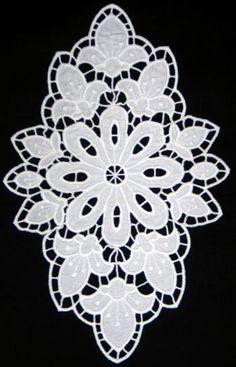 La flor de lis tapete Cutwork