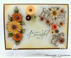 Yellow Tattered Blossom Swirls by Candy Slabaugh