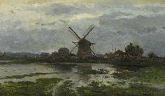 Paul Joseph Constantin Gabriël - Landschap met molen