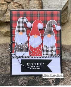 Christmas Gnome, Christmas Paper, Handmade Christmas, Winter Christmas, Holiday Cards, Christmas Cards, Paper Cards, Creative Cards, Homemade Cards