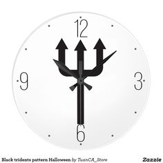 Black tridents pattern Halloween