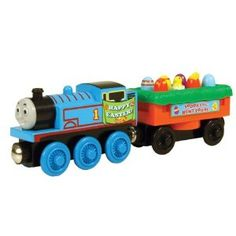 thomas wooden easter egg car - the birds chirp! (easter basket idea) $14.99