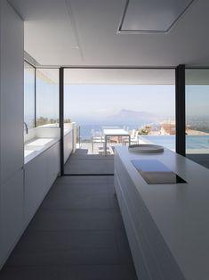 Casa Punta Albir by RGB arquitectos, Altea, Alicante Modern Kitchen Interiors, Modern Kitchen Design, Interior Design Kitchen, Küchen Design, House Design, Design Ideas, Modernisme, Best Kitchen Designs, Kitchen Ideas