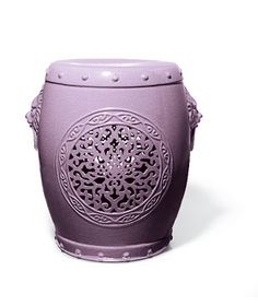 To buy: Garden stool, $750, jardinsenfleur.com for stores.  From lavender to plum, the range of this color is as wide as its appeal.