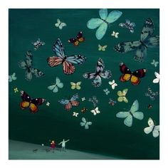 Jenni Murphy - Butterfly parade - limited edition print