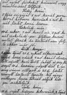 Ilus néni receptes füzete I. A bejegyzések nagy része 1954 és 1959 között készült - sok jó recept pl:Igazi hájas tészta szilvalekvárral – gyermekkorunk egyik kedvenc sütije! - diabetika.hu Sheet Music, Cooking, Blog, Kitchen, Blogging, Music Sheets, Brewing, Cuisine, Cook